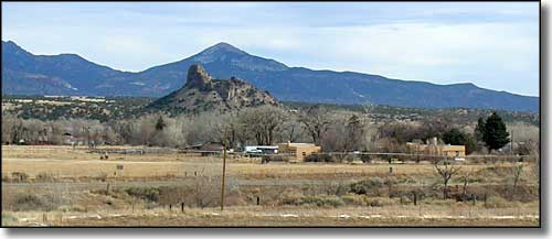 Gardner Butte and Badito Cone rise south of Gardner