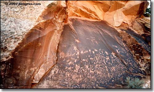 Newspaper Rock in eastern Utah