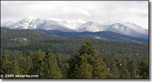 Truchas Peaks in Santa Fe National Forest