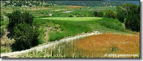 Golf course at Cougar Canyon in Trinidad, Colorado