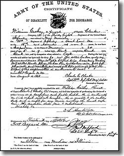 Cathay Williams discharge papers