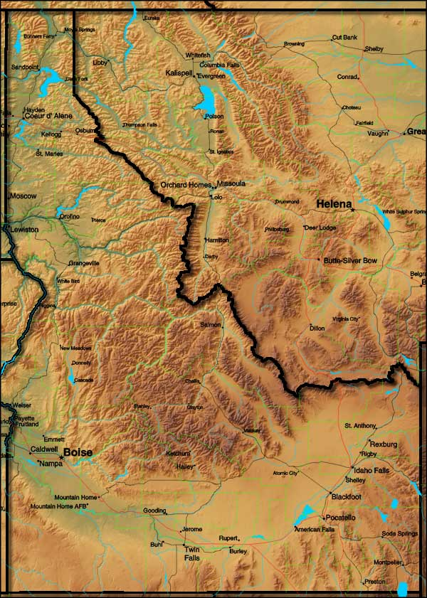 Idaho map