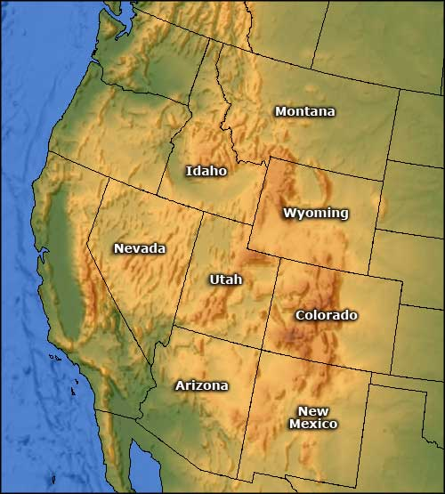 map of utah and idaho