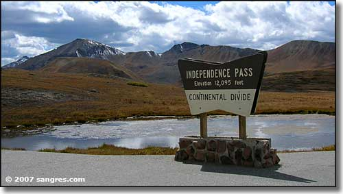 At the summit of Independence Pass