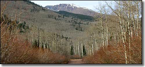 Cuatro Peak, from North Lake State Wildlife Area