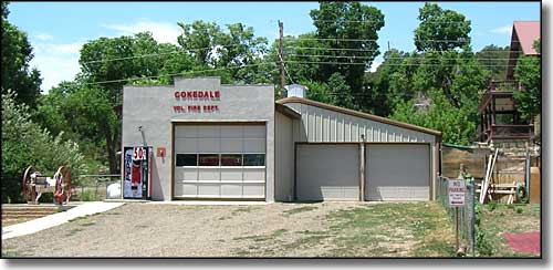 Cokedale fire station and ambulance