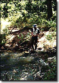 fisherman along Cimarron River