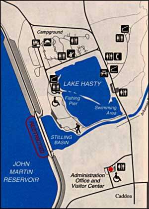 map of the Lake Hasty area