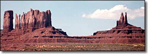 Sandstone formations, Monument Valley