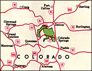 map of Pike National Forest