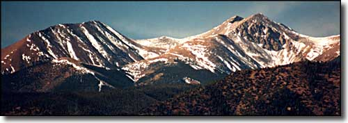Culebra Peak and Red Mountain from near Stonewall, Colorado