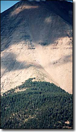 Climbing face of the West Spanish Peak