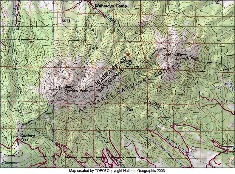 Highway Of Legends Colorado Map.The Spanish Peaks Photo Gallery