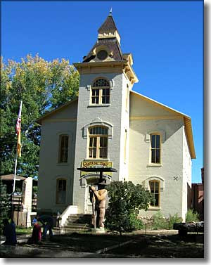 The old Colfax County Courthouse in Springer, NM