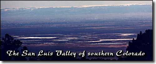 view across the San Luis Valley
