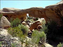 A sandstone arch