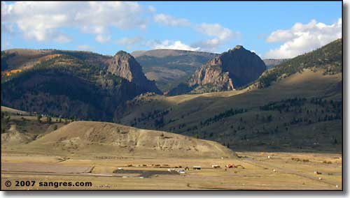 The setting of Creede, Colorado