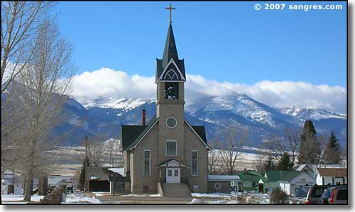 The historic Hope Lutheran Church in Westcliffe