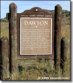 Historical marker at the Dawson Cemetery