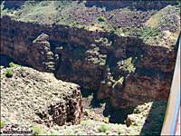 looking down into Rio Grande Gorge