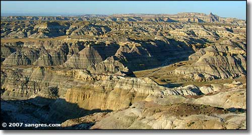 A photo of the badlands of Angel Peak National Recreation Area