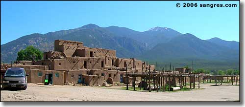 Wheeler Peak and Taos Pueblo
