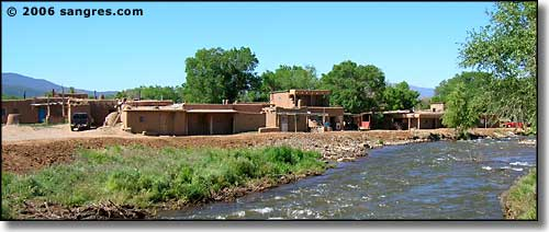 the creek at Taos Pueblo