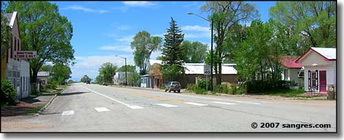 Main Street in Blanca Colorado