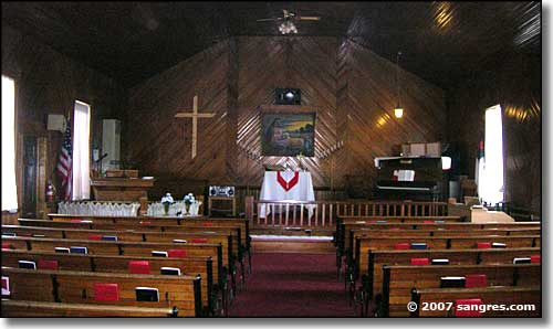 Interior of the United Methodist Church in Mosca, Colorado
