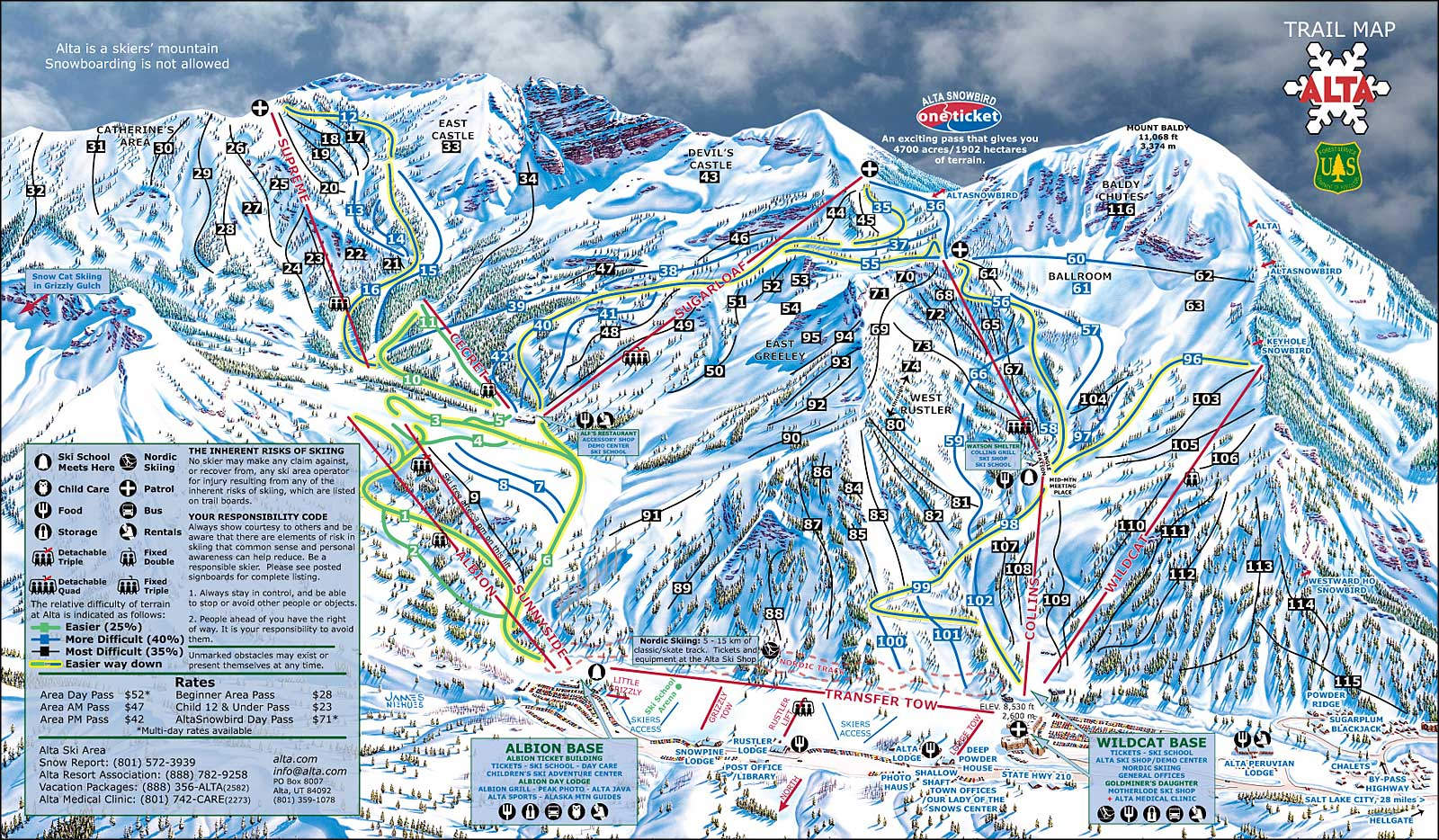 snowbird trail map with Alta Ski Area on Brighton as well Volunteer Profile Jim And Ellie Burbank For The Great Smoky Mountains National Park 2 in addition Pic 5723 furthermore Best Utah Ski Snowboard Resorts likewise 226.