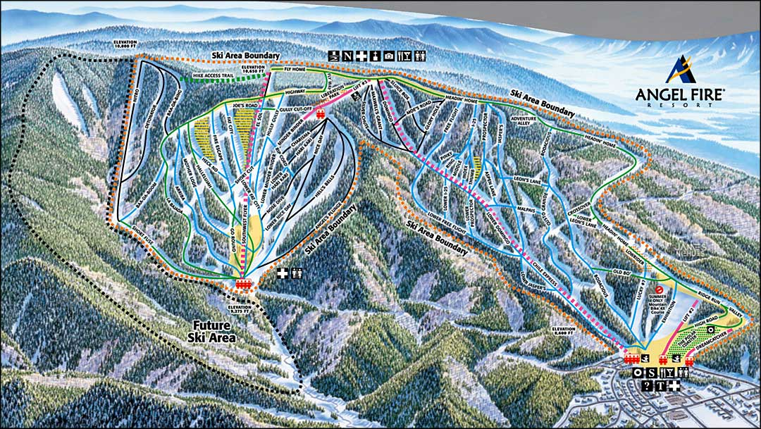 Angel Fire Resort Map