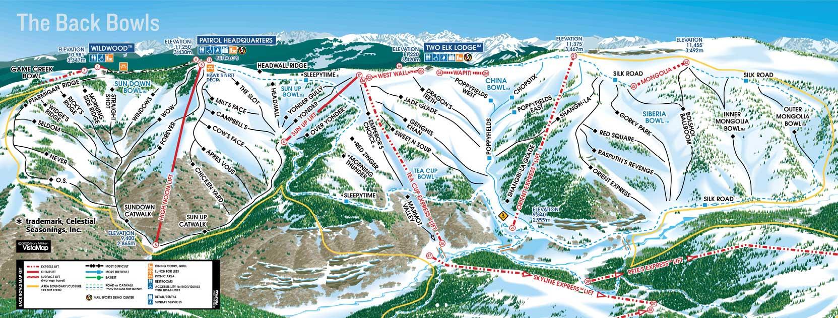 Vail ski resort back side