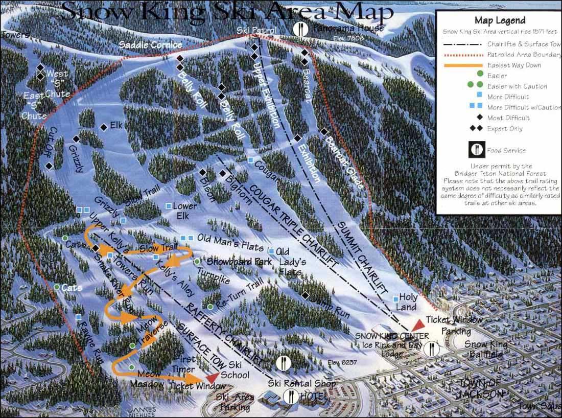 Ski Areas In Wyoming Map.Snow King Resort