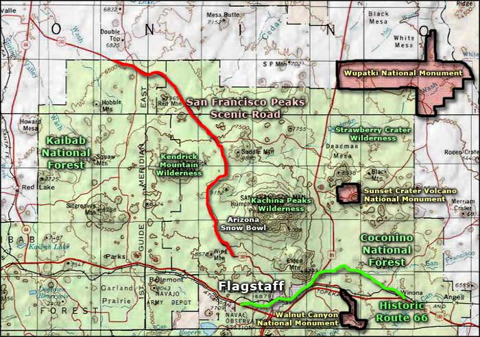 Strawberry Crater Wilderness area map