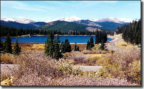 Echo Lake on the Mount Evans Scenic Byway
