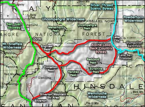 Top Alpine Loop Scenic Byway Map Wallpapers