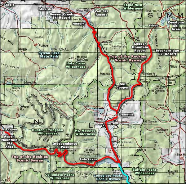 Vail Ski Resort Area map