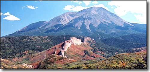 The West Spanish Peak in the Fall
