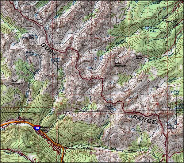 Eagles Nest Wilderness map
