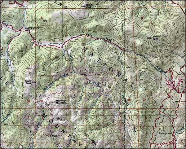 Lost Creek Wilderness map