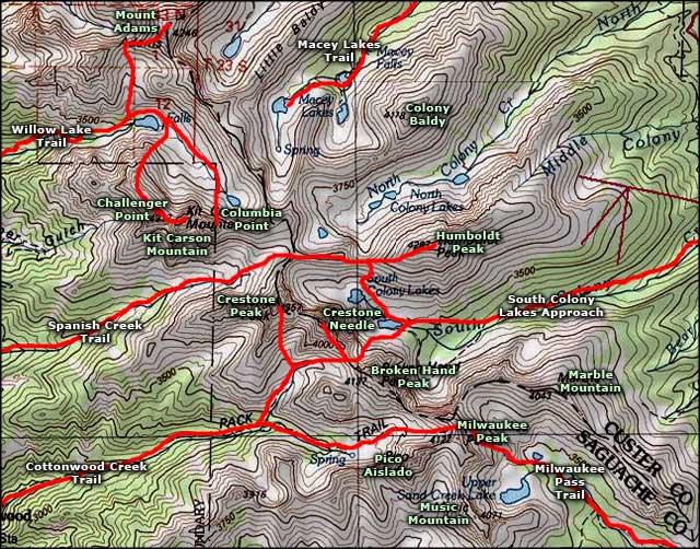 Crestone Needle And Crestone Peak