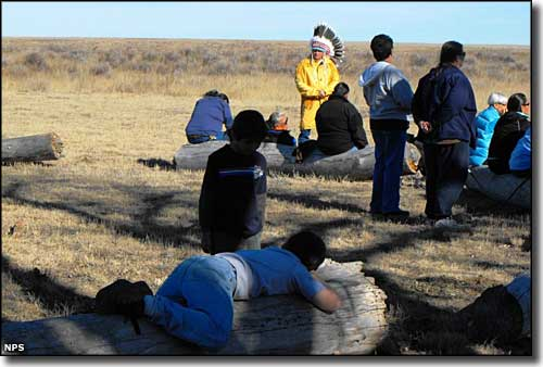 Scene during the Sand Creek Massacre Spiritual Healing Run in 2009