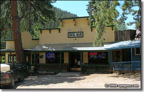 The famous Dog Bar in Cuchara, Colorado