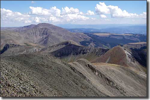 The view south from the summit of San Luis Peak in La Garita Wilderness