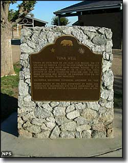 Commemorative plaque at Yuha Well, Juan Bautista de Anza National Historic Trail