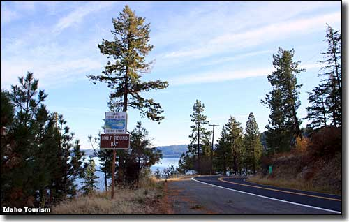 Near Half Round Bay on the Coeur d'Alene Scenic Byway