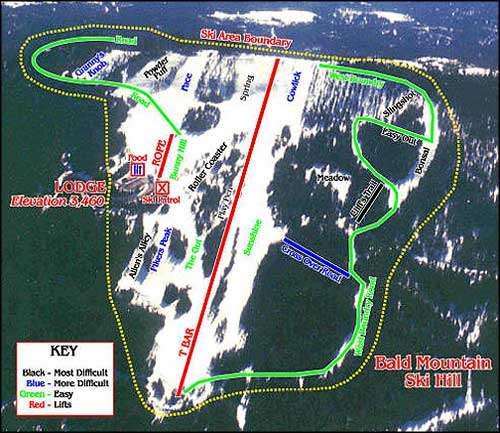 Bald Mountain Ski Area trails map