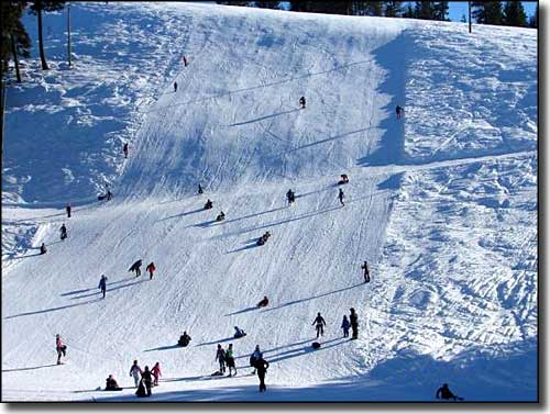 Skiers at Little Ski Hill