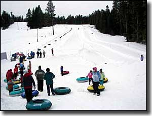 The tubing hill at Snowhaven
