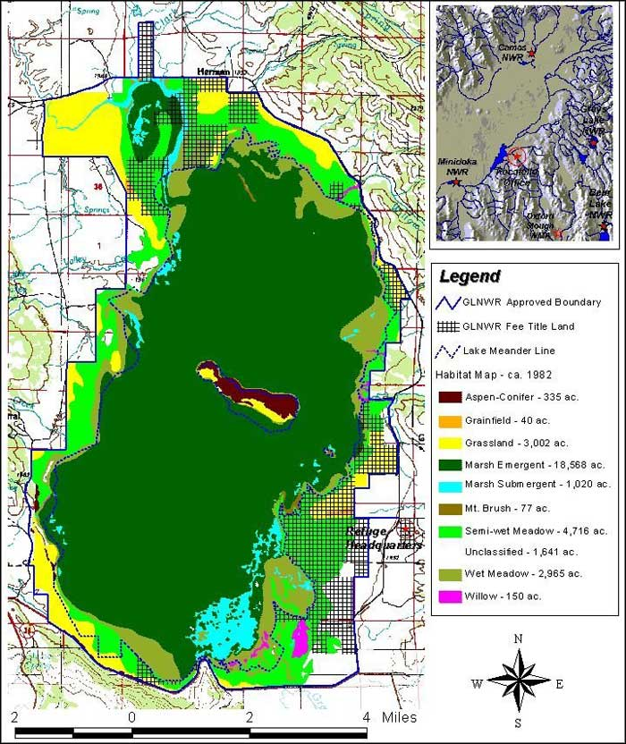 Grays Lake National Wildlife Refuge map